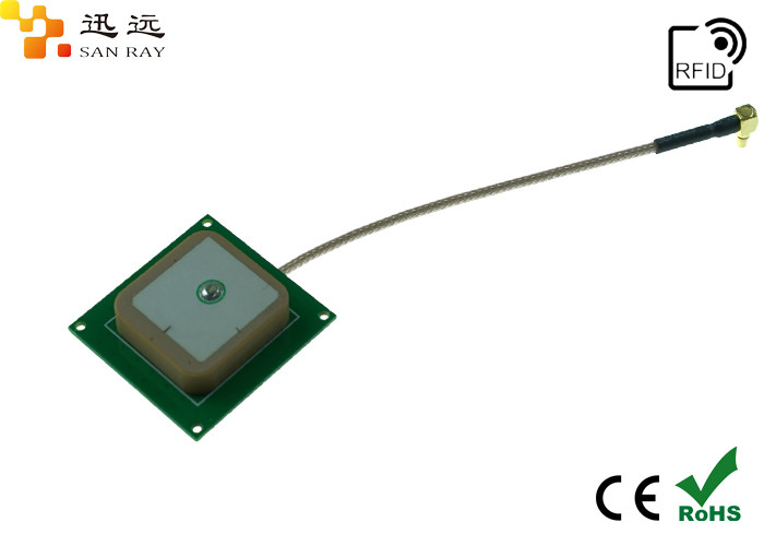 RHCP Polarization UHF RFID Reader Ceramic Antenna -1dbi 25*25mm