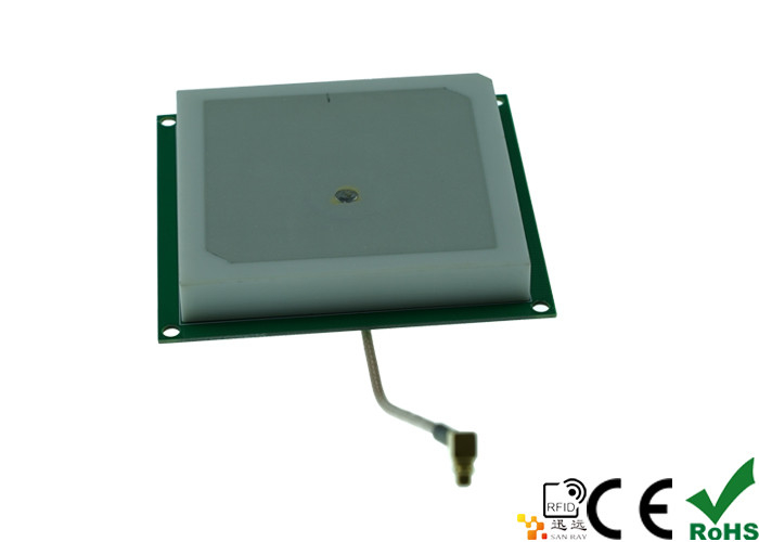 62*62mm RHCP Polarization 3dbi Ceramics RFID UHF Antenna 860mhz - 960mhz