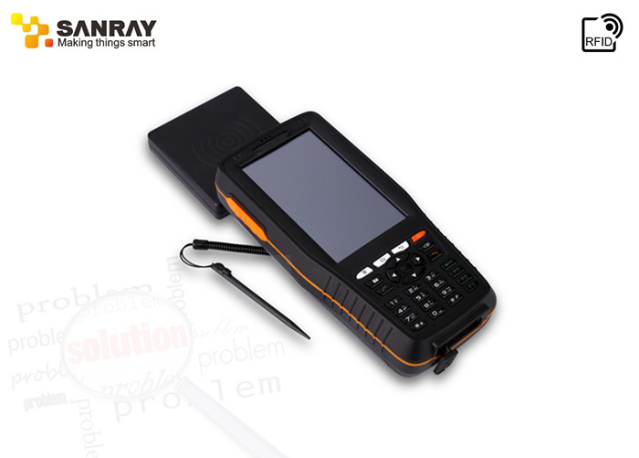 GPS bluetooth UHF RFID Handheld Reader , High Speed Portable Terminal Device