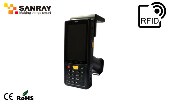 WIFI IP65 UHF Rfid Handheld Reader , rfid barcode scanner 1 years warranty