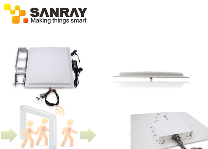 Long Distance 12dbi Antenna RFID Integrated Reader For Warehouse